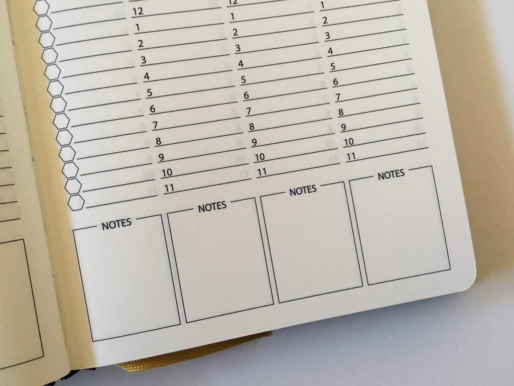 happy bee planner review weekly monthly undated vertical hourly layout 5am to 11pm schedule lined monthly calendar video flipthrough_13