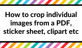 how to crop individual images from a pdf sticker sheet clipart digital planning tutorial printable jpg tips goodnotes cropping