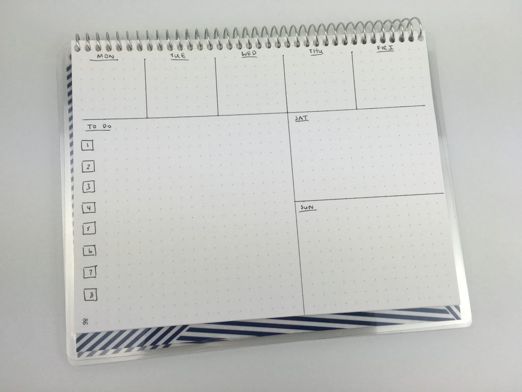 landscape bullet journal weekly spread no days of the week simple quick easy minimalist large page size practical paper co notebook