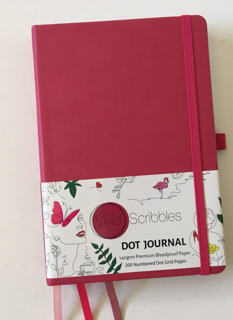 Vivid Scribbles Dot Journal Notebook Review (140 GSM Bleedproof Paper)