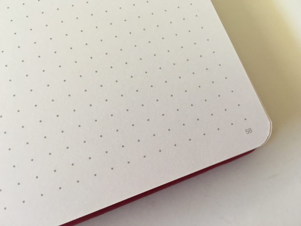 vivid dot journal review dot grid sewn bound bright white paper 140GSM no ghosting or bleed through video flipthrough pen testing numbered pages cheap affordable amazon notebook_08