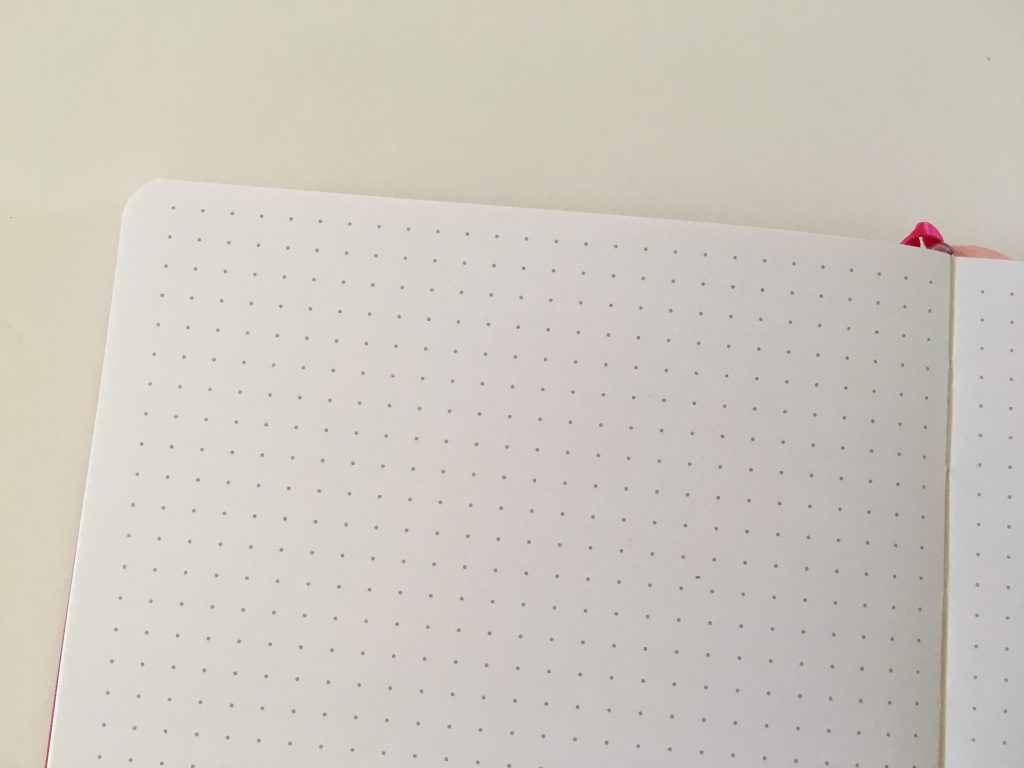vivid dot journal review dot grid sewn bound bright white paper 140GSM no ghosting or bleed through video flipthrough pen testing numbered pages cheap affordable amazon notebook_10