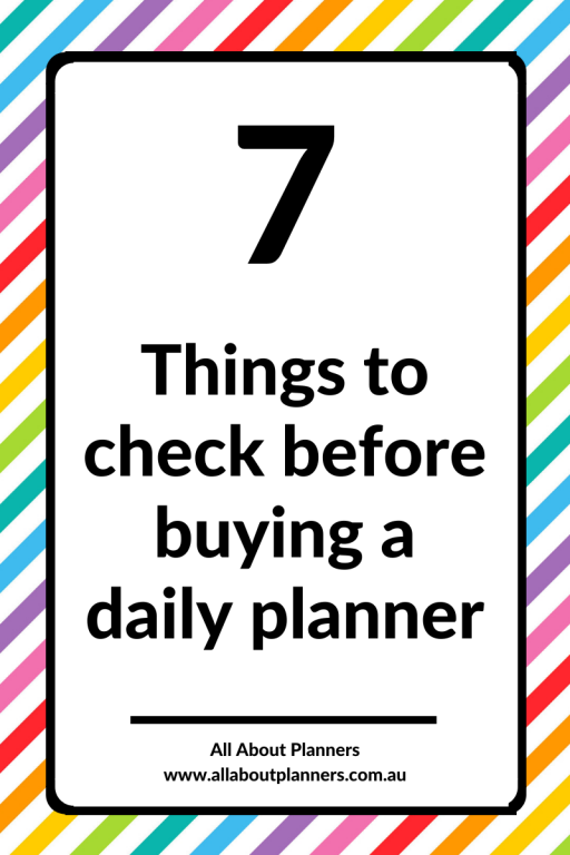 7 things to check before buying a daily planner day to a page planner tips best roundup favorite