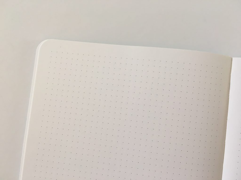 CEDON notebook review dot grid bullet journal bujo bright white paper europe planner 4mm dot grid sewn bound low flat_06