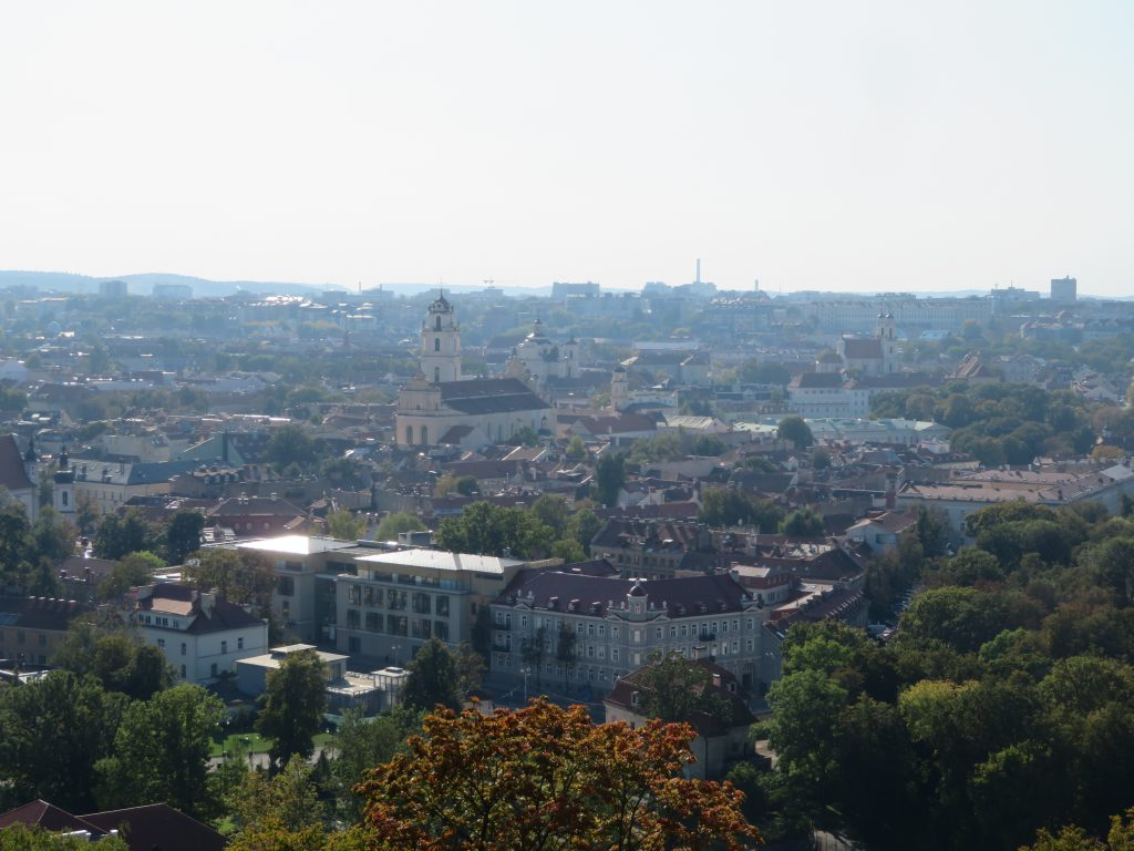 Vilnius hill of 3 crosses viewpoint lithuania september autumn colors things to see and do 3 day itinerary
