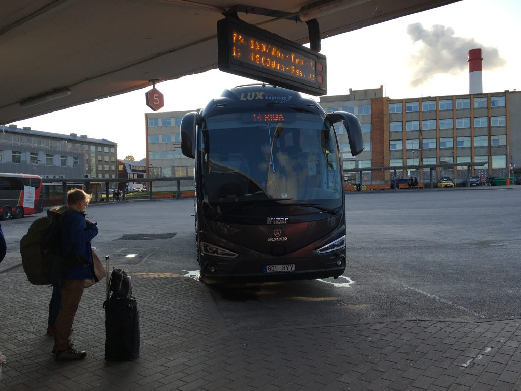Lux Express bus review baltic states riga latvia tallin estonia vilnius lithuania