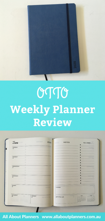 OTTO weekly planner review horizontal weekly 1 page plus notes and checklist video flipthrough pros and cons all about planners aussie officeworks