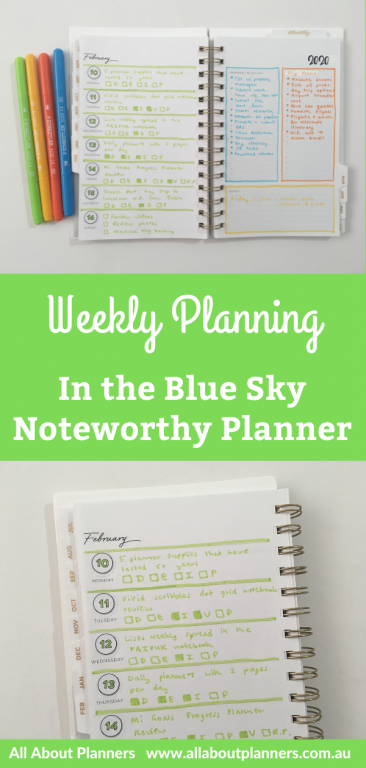 blue sky noteworthy planner weekly spread simple minimalist quick staedtler twin tip pens minimalist decorating ideas all about planners