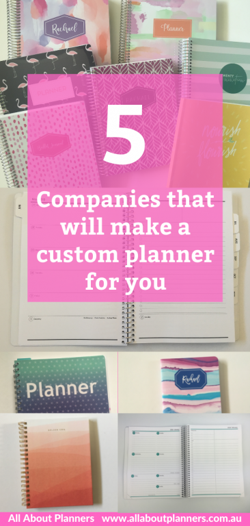 custom planner 5 companies that can make one for you personalised cover weekly spread monthly calendar checklist bullet journal monthly planning change colors fonts layout golden coil agendio