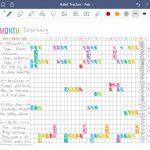 Digital habit tracking using Goodnotes versus habit tracking on paper