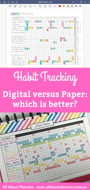 digital versus paper habit tracking which is better tips pros and cons recommended all about planners tips inspiration