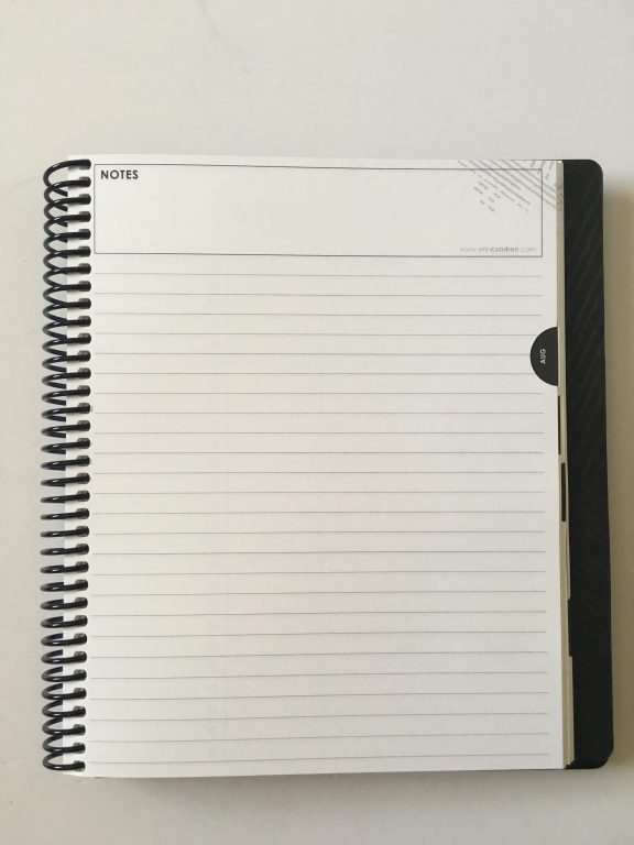 erin condren focused planner coil bound review video pros and cons pen testing video flipthrough monday week start horizontal lined writing space checklist_12