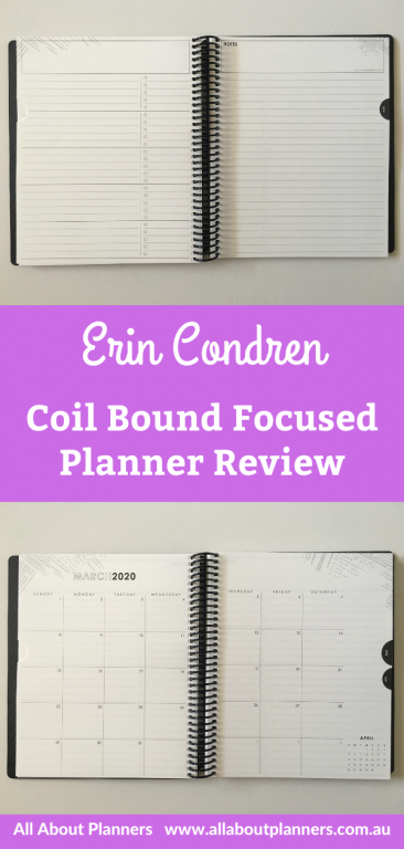 erin condren focused weekly planner review undated coil bound 5 day week study format monday week start horizontal checklist minimalist video flipthrough pros and cons