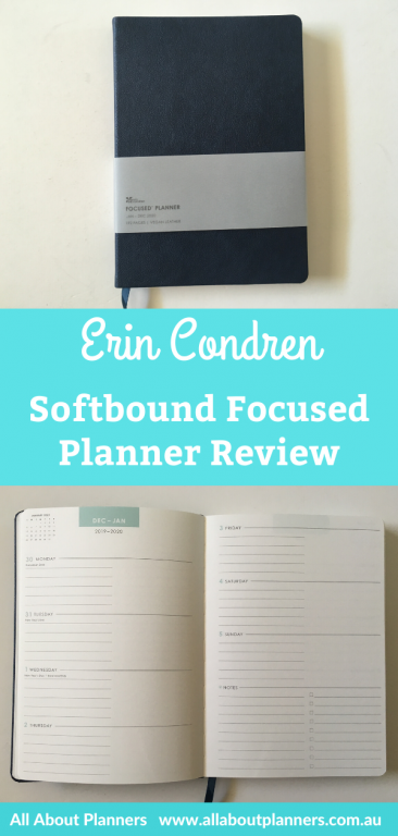 erin condren softbound focused planner review eclp sewn bound gender neutral horizontal weekly spread monday start lined and unlined simple minimalist affordable