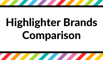highlighter brands comparison recommendations best highlighters tips all about planners favorite stationery