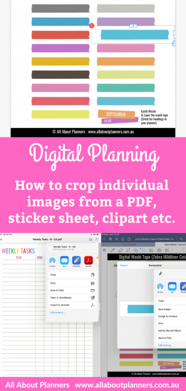 how to crop individual images from a pdf sticker sheet clipart digital planning tutorial printable jpg tips goodnotes step by step easy