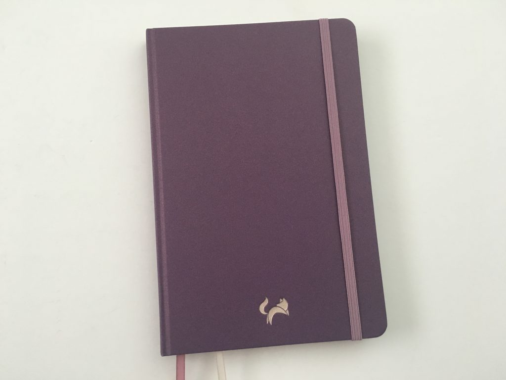 jumping fox design bullet journal dot grid notebook review sewn bouns minimalist glitter cover purple pen testing contents index numbered pages_18