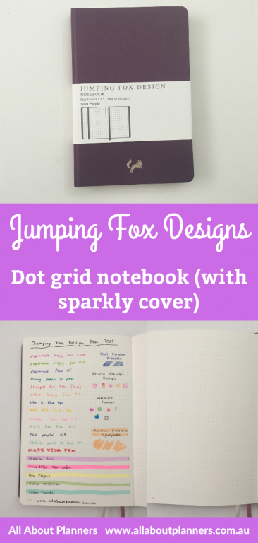 jumping fox designs dot grid notebook review pros and cons a5 page size sparkly cover ivory paper numbered pages video review