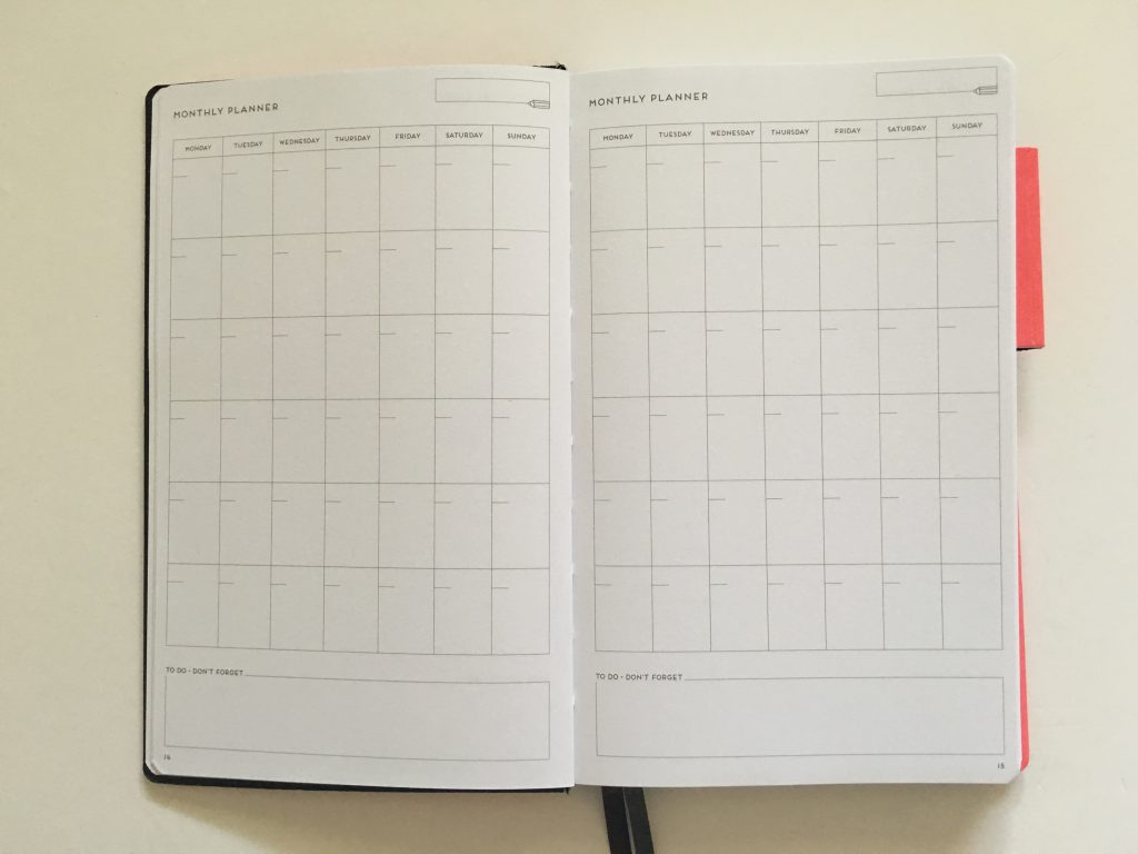 my legami milano dot grid notebook review pros and cons bright white paper pen testing numbered pages index 1 page monthly calendar bullet journal_08