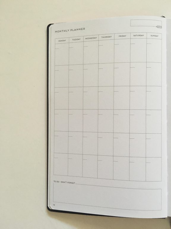 my legami milano dot grid notebook review pros and cons bright white paper pen testing numbered pages index 1 page monthly calendar bullet journal_09