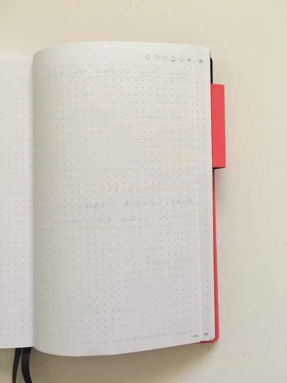 my legami milano dot grid notebook review pros and cons bright white paper pen testing numbered pages index 1 page monthly calendar bullet journal_15
