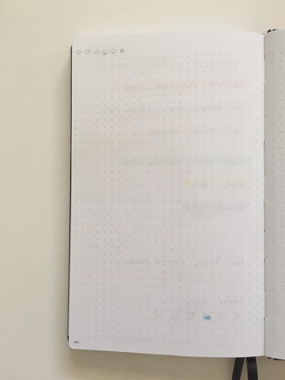my legami milano dot grid notebook review pros and cons bright white paper pen testing numbered pages index 1 page monthly calendar bullet journal_16