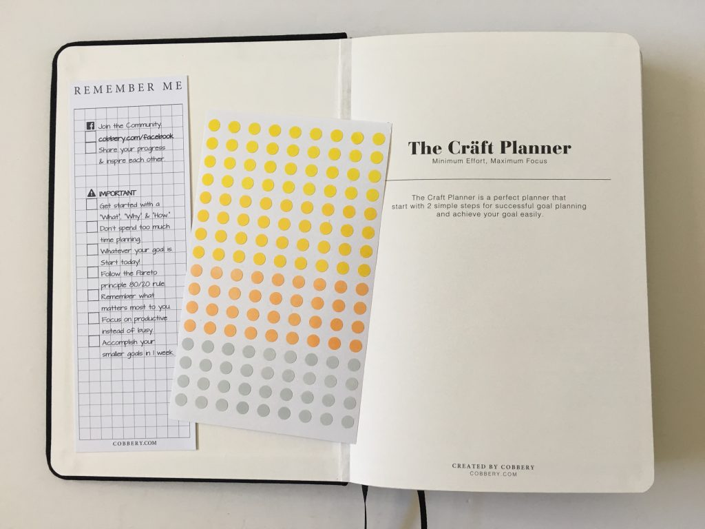 the craft planner cobbery undated alternative to bullet journal sewn bound graph paper gantt chart annual overview video review minimalist gender neutral_03
