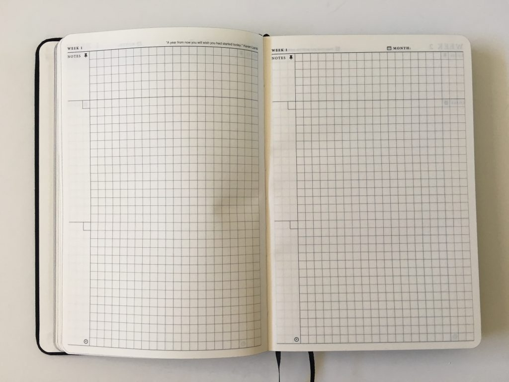the craft planner cobbery undated alternative to bullet journal sewn bound graph paper gantt chart annual overview video review minimalist gender neutral_19