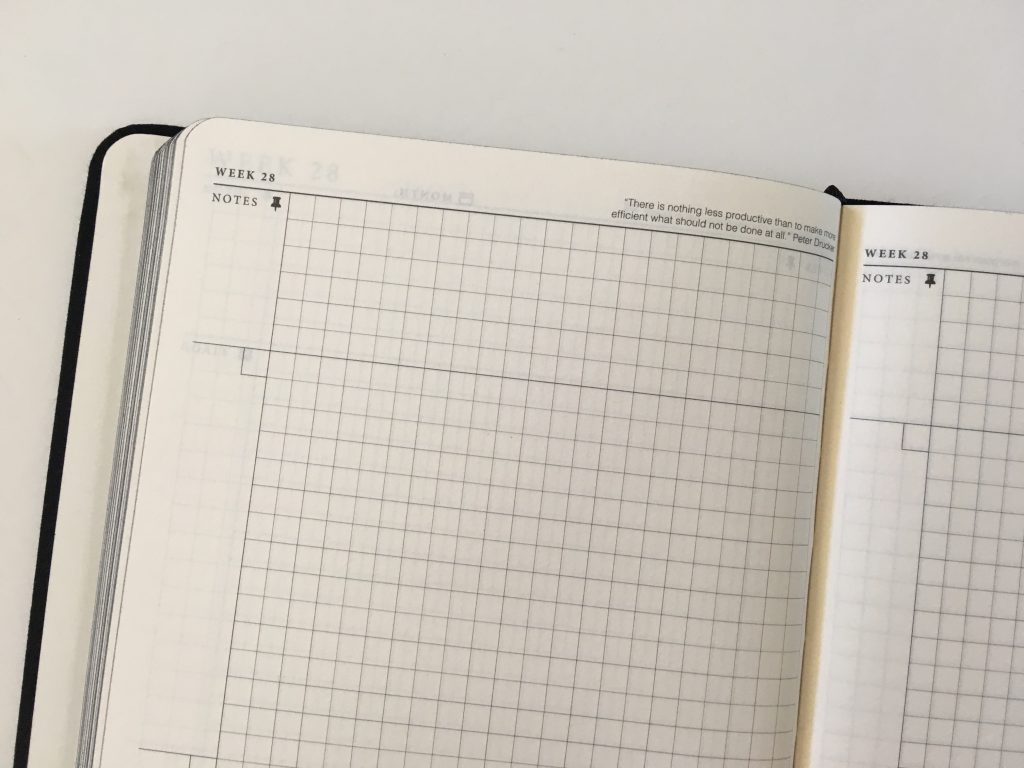 the craft planner cobbery undated alternative to bullet journal sewn bound graph paper gantt chart annual overview video review minimalist gender neutral_20
