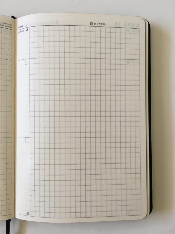 the craft planner cobbery undated alternative to bullet journal sewn bound graph paper gantt chart annual overview video review minimalist gender neutral_21
