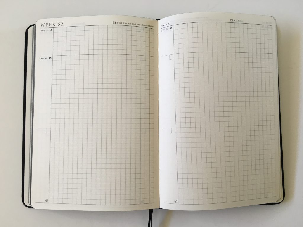 the craft planner cobbery undated alternative to bullet journal sewn bound graph paper gantt chart annual overview video review minimalist gender neutral_22