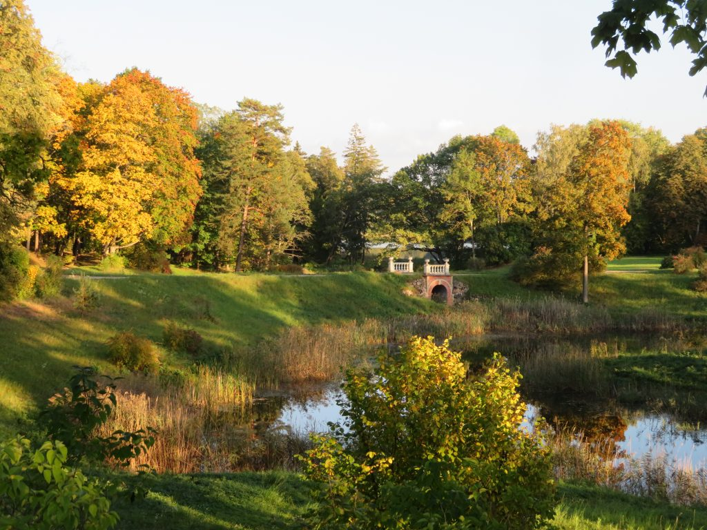 Užutrakis Tyszkiewicz Manor view from takai island castle september autumn colors best time to visit