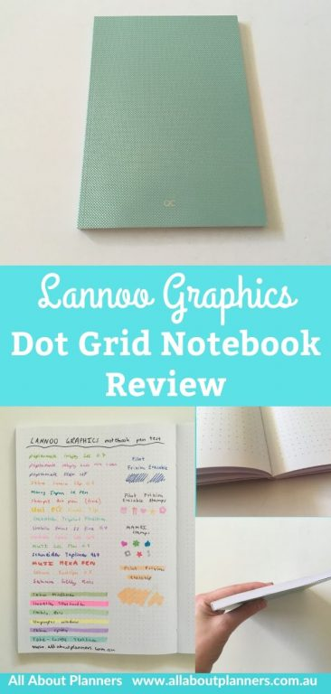 Lannoo graphics dot grid notebook review from finland european all about planners bright white paper pen testing ghosting bleed through