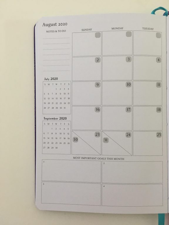 Legend planner review horizontal lined weekly plus notes spread dot grid pages pen testing white paper_11