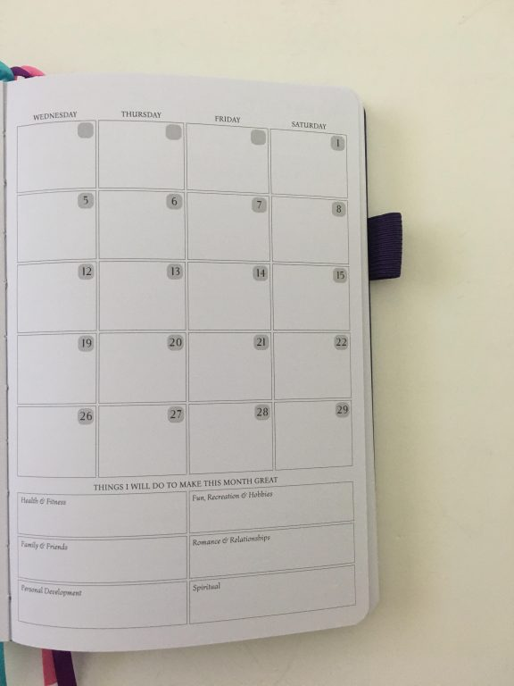 Legend planner review horizontal lined weekly plus notes spread dot grid pages pen testing white paper_12