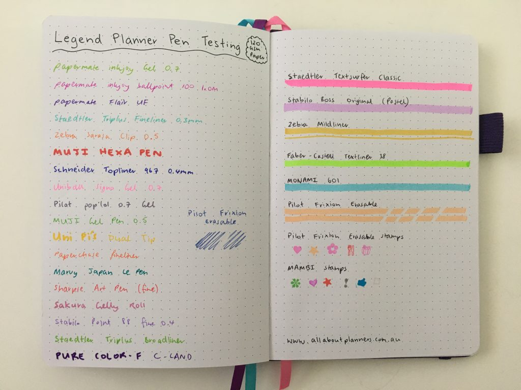 Legend planner review horizontal lined weekly plus notes spread dot grid pages pen testing white paper_19