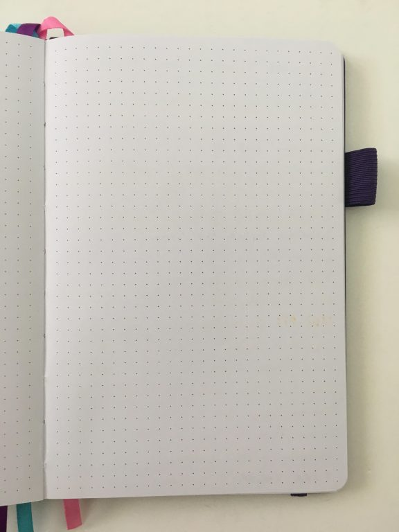Legend planner review horizontal lined weekly plus notes spread dot grid pages pen testing white paper_20