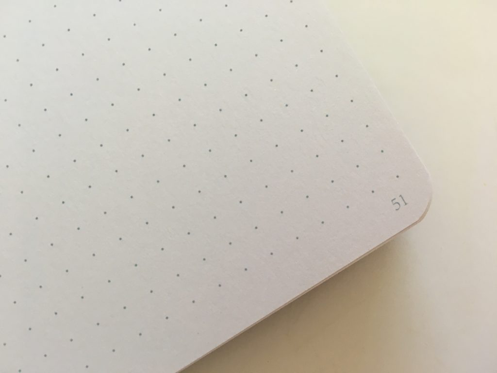 Tekukor dot grid notebook review 160 gsm thick paper no ghosting or bleed through highlighters pens stamps bright white paper cheaper alternative to archer and olive similar_03