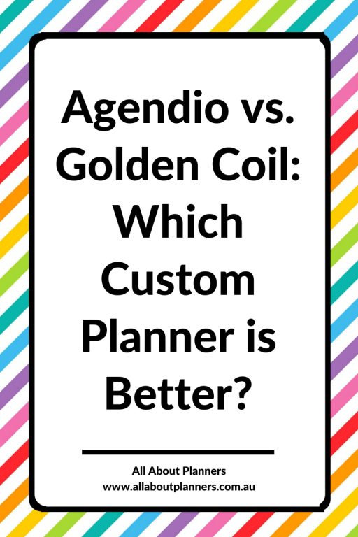 agendio vs golden coil which custom planner is better weekly daily you choose start date cover customisation price paper quality pen testing pros and cons ghosting bleed through