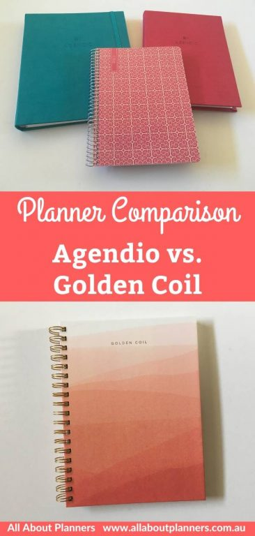 agendio vs golden coil which custom planner is better weekly daily you choose start date cover customisation price paper quality pen testing pros and cons ghosting bleed through usa