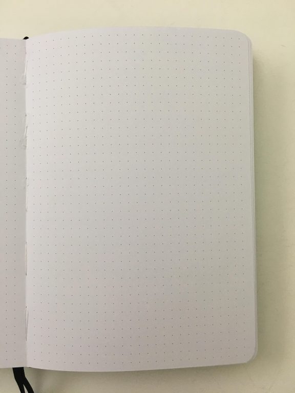 buke stationery dot grid notebook 180 gsm ghosting bleed through bright white paper best bullet journal