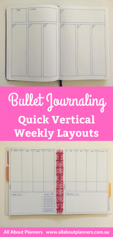 bullet journal quick vertical weekly spread ideas 2 page simple easy minimalist functional bujo newbie monday week start habit tracker list