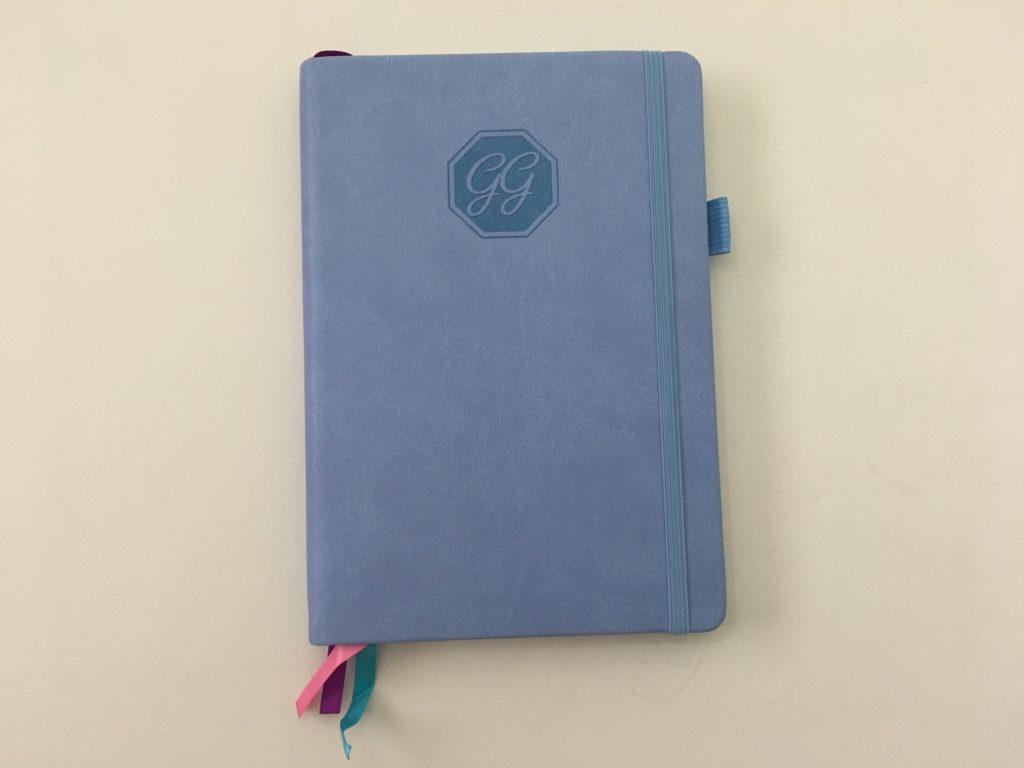 go girl planner review undated weekly monthly sewn bound horizontal lined goals habit tracker checklist bright white paper rainbow stickers pocket folder minimalist_04