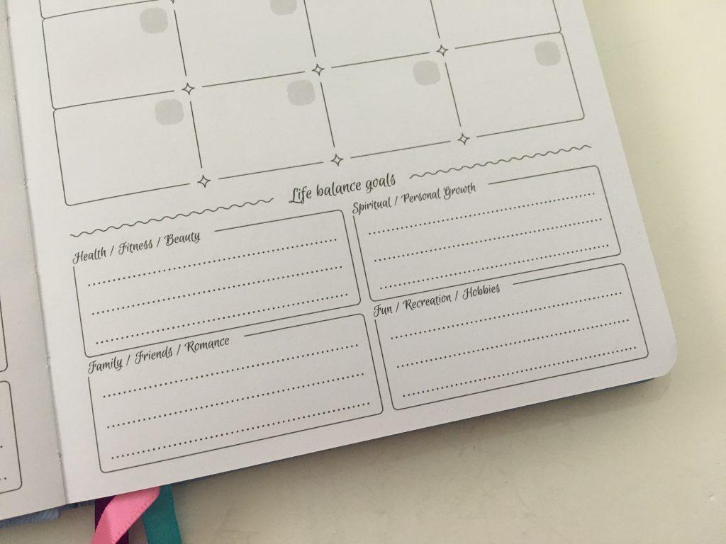 go girl planner review undated weekly monthly sewn bound horizontal lined goals habit tracker checklist bright white paper rainbow stickers pocket folder minimalist_10