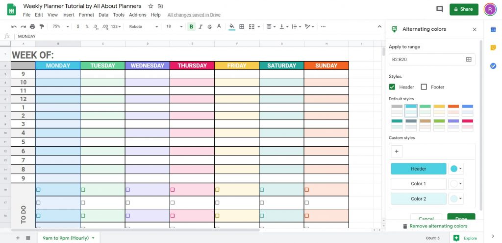 how to change colors quickly and easily in google sheets free online alternative to microsoft excel instructions video tutorial