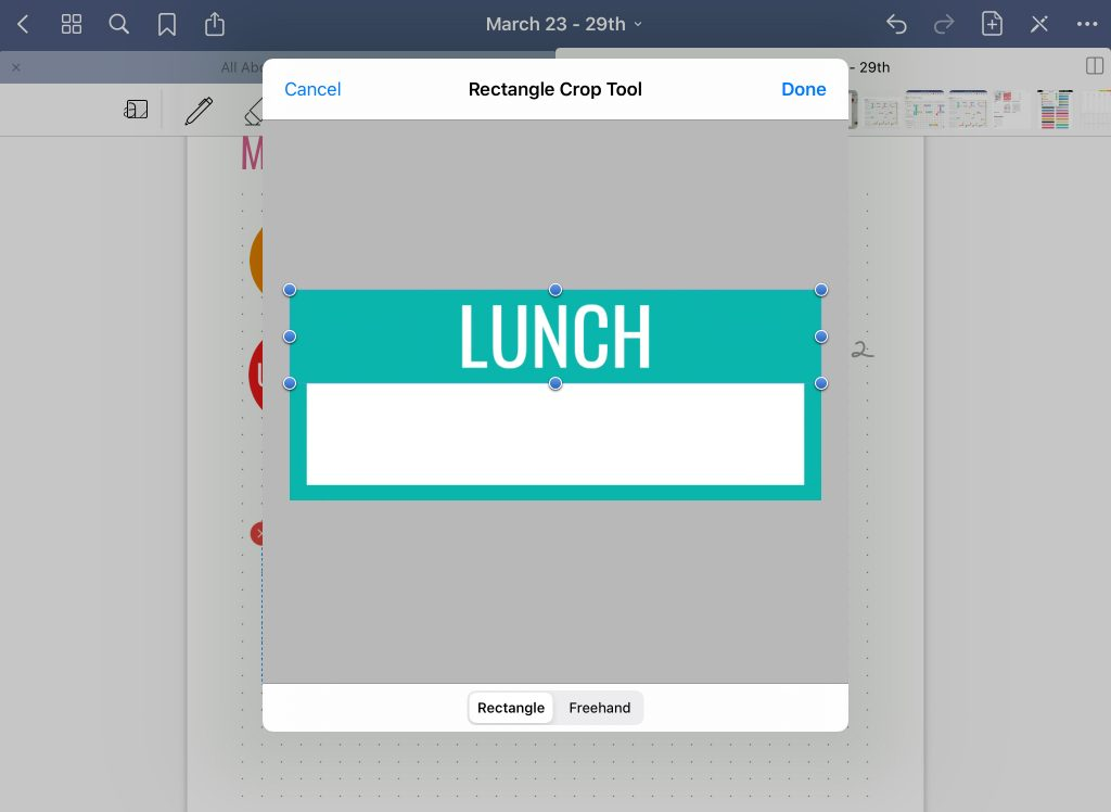 how to crop digital stickers in Goodnotes tutorial all about planners