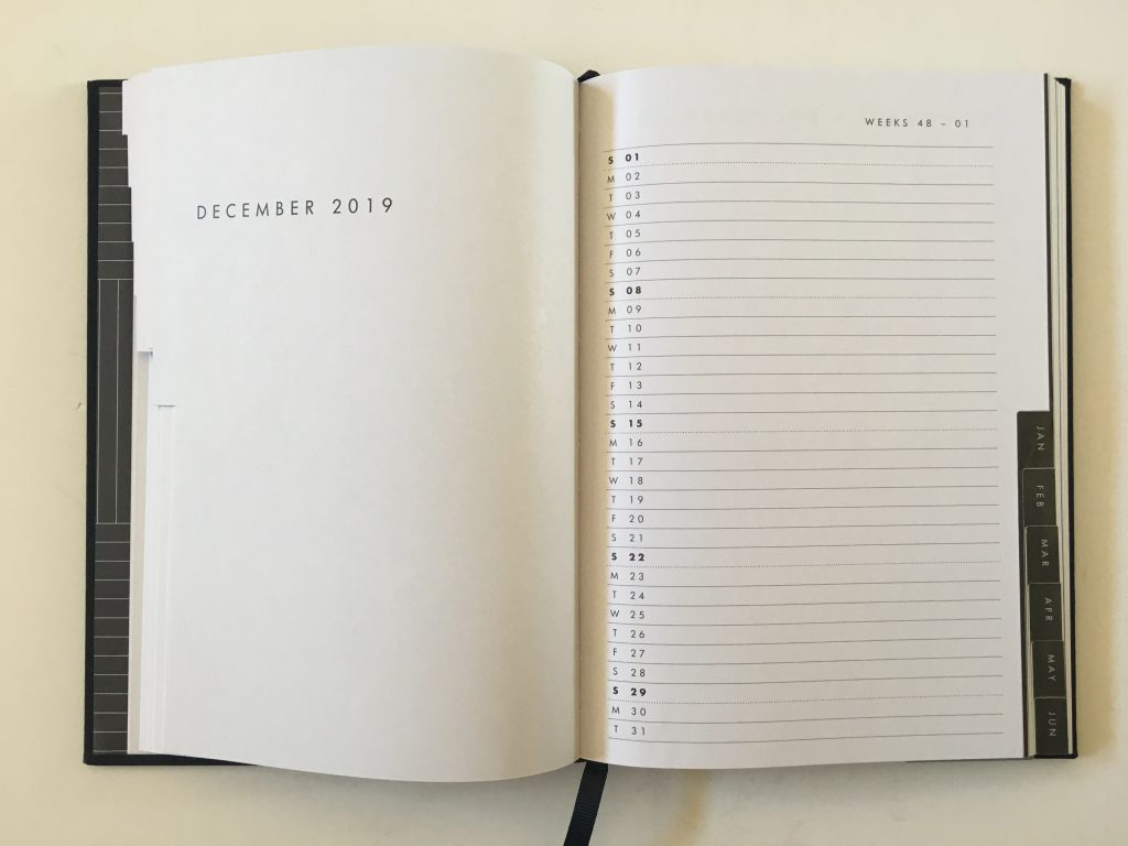 kikki k horizontal weekly planner review monday start lined unlined minimalist hardcover sewn bound 2 pages spread vertical list monthly calendar_08