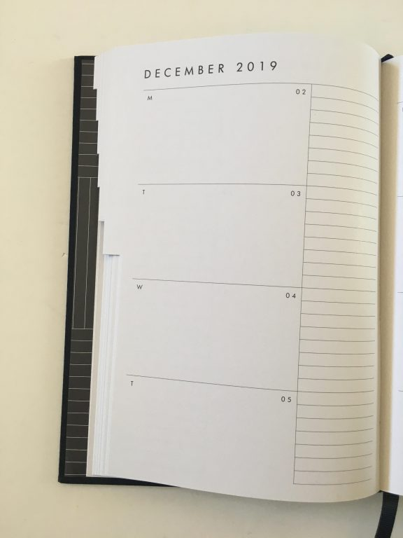 kikki k horizontal weekly planner review monday start lined unlined minimalist hardcover sewn bound 2 pages spread vertical list monthly calendar_11