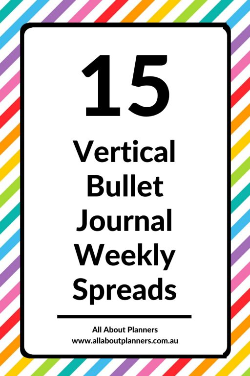 quick and simple vertical bullet journal weekly spreads ideas layouts all about planners tips inspiration minimalist mondyay start 5 day week