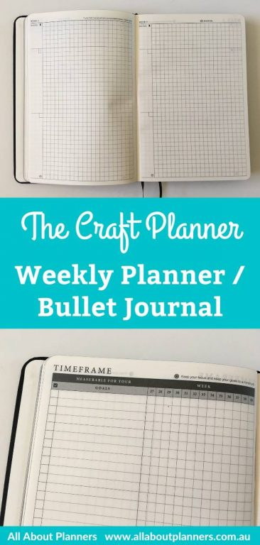 the craft planner by cobbery weekly planner bullet journal bookbound graph paper minimalist gender neutral video review flip through pros and cons